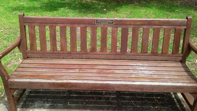 Bench at Heywood Park