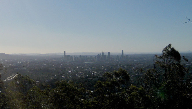View from Mt Coot-tha Botanic Gardens