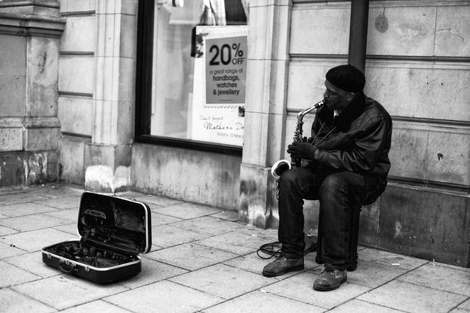 busking, saxophone, national saxophone day, quirky holidays in November