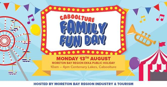 Caboolture Family Fun Day, Moreton Bay Region, Monday 13 August, affordable alternative to EKKA, families, Carnival theme for 2018, FREE rides, FREE entertainment, Sizzler Main Stage Programme, Forever Dance Academy, Bubbles the Baby Elephant, Scoot the Stunt Juggler, Larrikin Puppets, Nickleby the Magician, Workshop Wonders, Phoenix Music, FREE carnival rides, Redwood College Kids Zone, FREE activities, FREE workshops, FREE faceprinting, Skyfall Silks, Redwood College Busking Stage, Unity Water Hydration Station, FREE chilled water all day, parking, disabled parking, FREE shuttle bus, Moreton Bay Region Industry and Tourism, Moreton Bay Regional Council, Sizzler Caboolture, Redwood College, SRJ Walker Wayland, USC