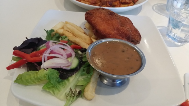 Caffe Primo, Chicken Schnitzel with Pepper Sauce, Adelaide