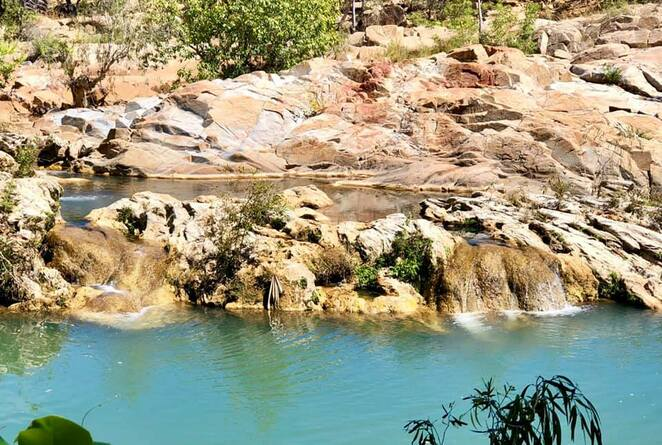 Bogey Hole, a favourite swimming spot for local people and freshwater crocodiles alike