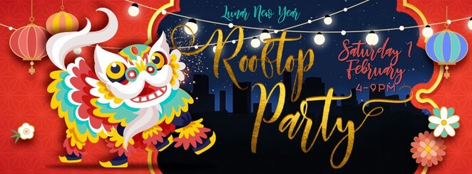 Chinese, lunar, new year, sunnybank, year of the pig, rooftop party, fireworks, lion