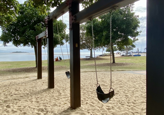 The swings cater for children of a variety of ages