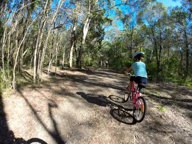 Trails at Coombabah Lakelands are flat and ideal for kids