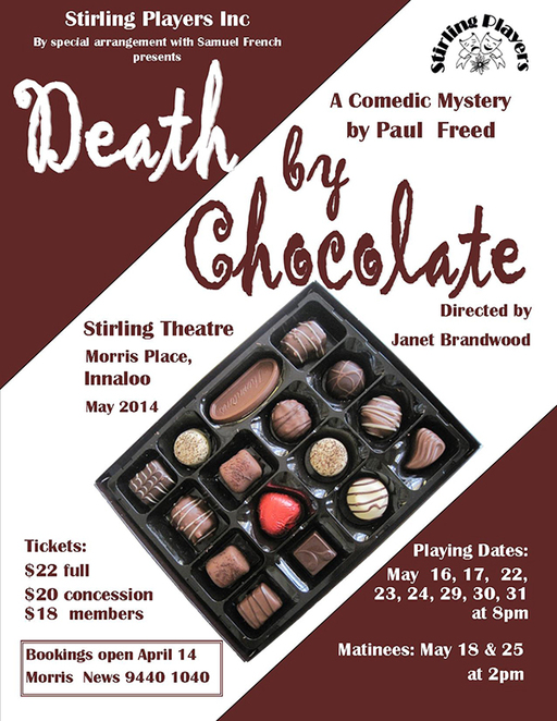 Death By Chocolate, Stirling Players, Paul Freed, Janet Brandwood, Comedy