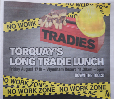 Torquay's Long Tradie Lunch 2012