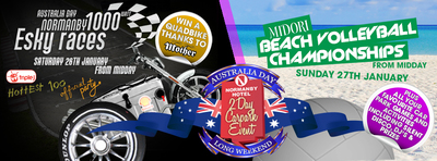 esky races, normanby hotel australia day double header
