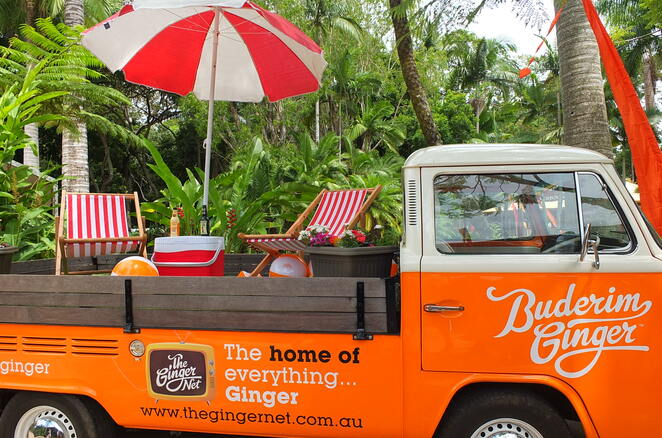 Ginger Flower and Food Festival 2020, free all-weather event, 24th year, ornamental gingers, heliconias, Sunshine Coast chefs, Matt Golinski, Sum Yung Guys, Makepeace Island, The Kitchen, ginger-inspired dishes, The Gardens, The Nursery, The Arts, The Dining, Meet the Makers, The Shops, Kokopod, The Entertainment, Dame Edna Average, Woodland Nymph, foodie and garden enthusiasts, all that is local to Sunshine Coast