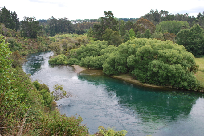 Huka Falls, New Zealand, Taupo, Hike, Walk, Waterfalls, Lookout, Waikato