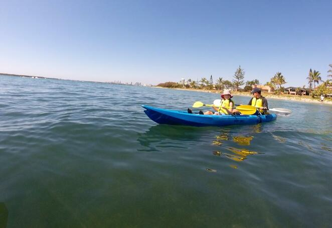 Kayaking across the Broadwater