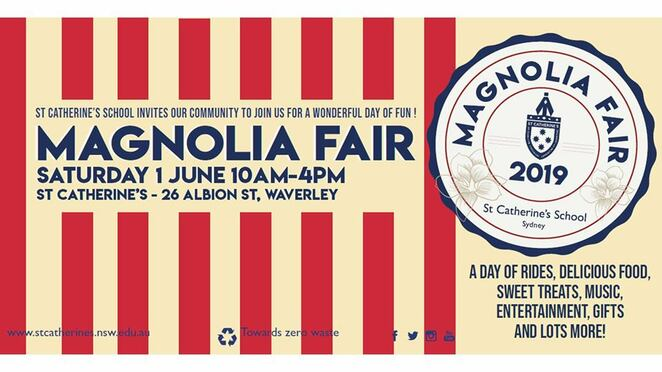 magnolia fair 2019, free event, community event, fun things to do, waverley nsw, fundraiser, sta catherine's school sydney, food and drink, market stalls, kids entertainment, lucky dip, zero waste, entertainment, activities, family fun