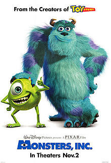 monsters inc, funny films, comedy, big screen