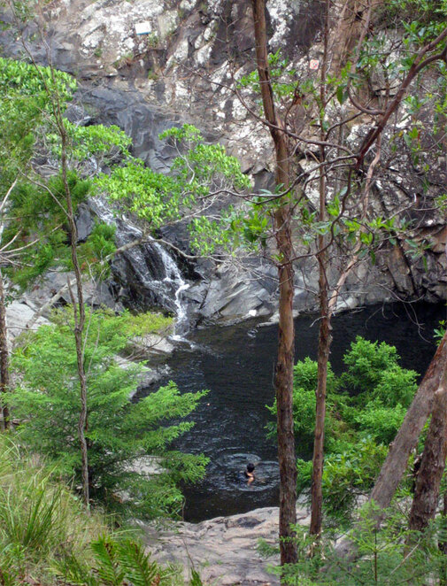 Enjoy a swim at Cedar Creek Falls