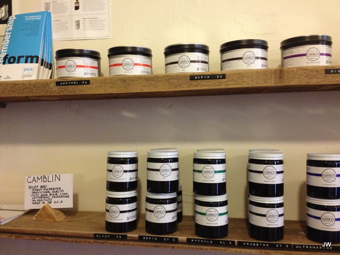 printmaking, Tooth and Nail, artists' supplies