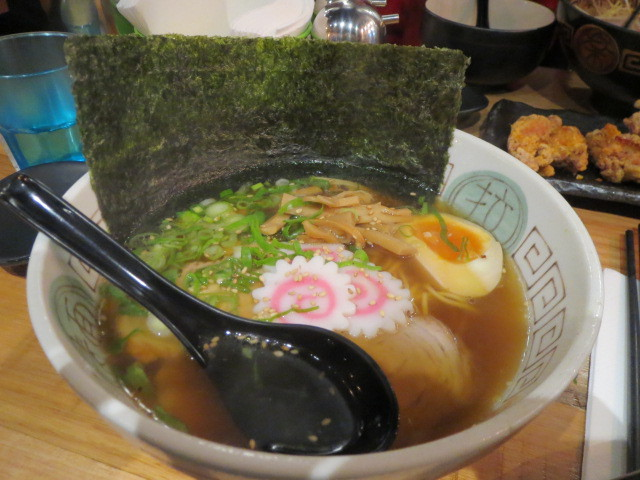 Ryo's Noodles, Ramen in Tokyo Style Soy Sauce Broth with Roast Pork, Egg, Bamboo Shoots and Naruto, Adelaide