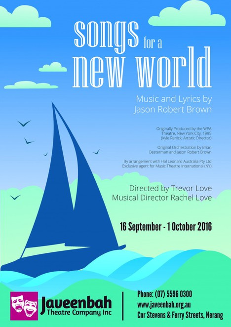 Songs for a New World, Javeenbah Theatre, Jason Robert Brown, decisions, life, love, Alexandra Ward, Rachel Love, Trevor Love, Daniela Martiri, Susannah Treacy, Dominic Bradley