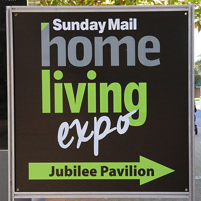 Sunday Mail, home, living, expo, 2017, sign