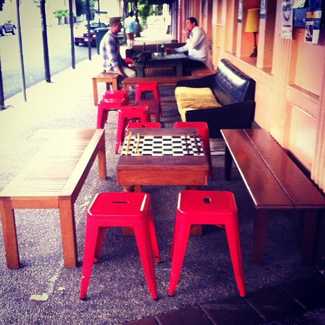 Outdoor seating at the Joynt