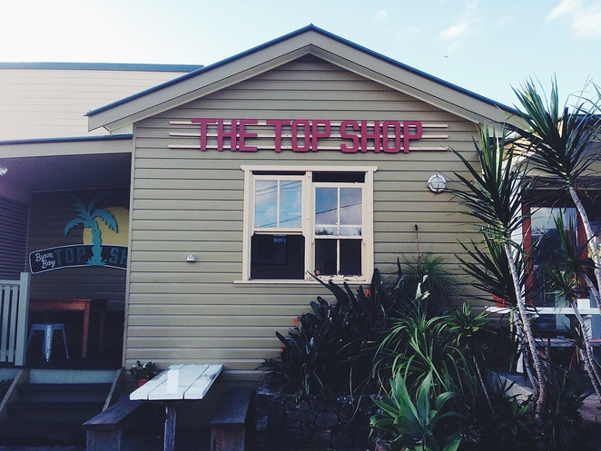 top shop, byron bay, restaurant, food, new south wales, travel, australia