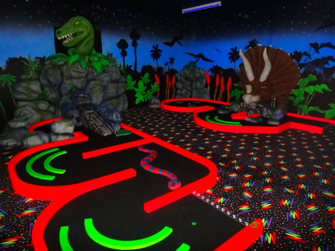 triassic, canning vale, mini golf, glow in the dark, dinosaurs, soft play