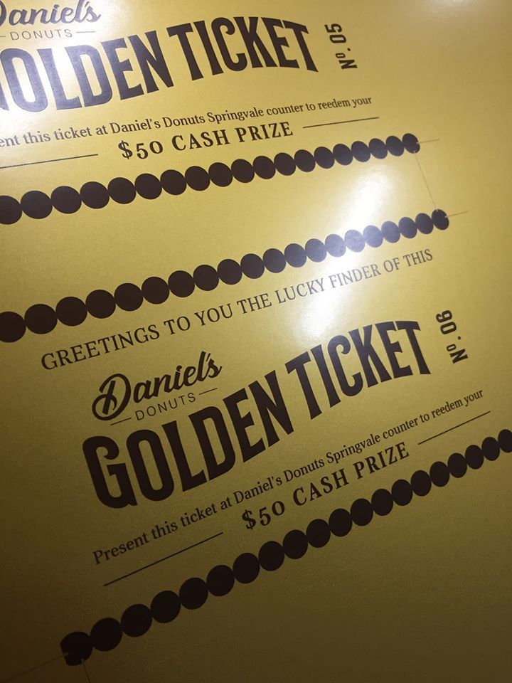 Daniels Donuts Golden Ticket Birthday Celebration Melbourne