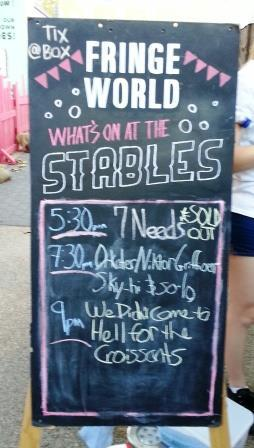 7 Needs, Fringeworld 2016, The Stables, Sold out