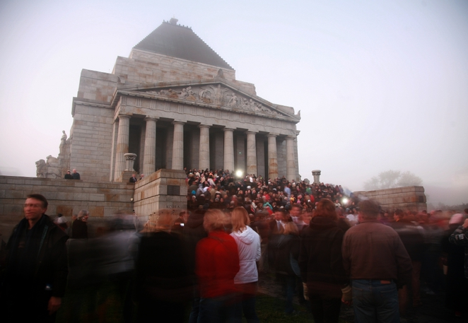 Join millions of Australians commemorate ANZAC Day. Photo from Shrine of Remembrance Melbourne.