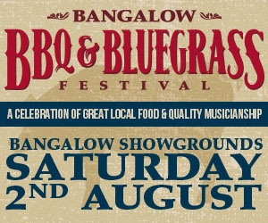 Bangalow BBQ and Bluegrass Festival, Byron Bay, BBQ Cook Off, Pickers competition, vegetarians, salads, kids games, Bangalow Banquet Cook Book. music, food, drink