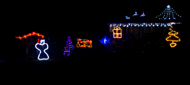 barbour road bracken ridge brisbane queensland australia christmas lights decorations walking nighttime free