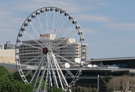 Brisbane Wheel, South Bank, cultural forecourt, Festival 2018