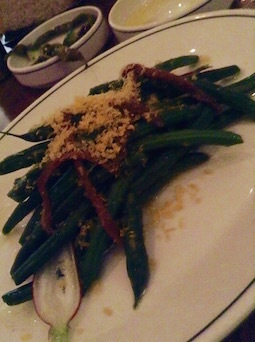 Cumulus Inc French beans with anchovies