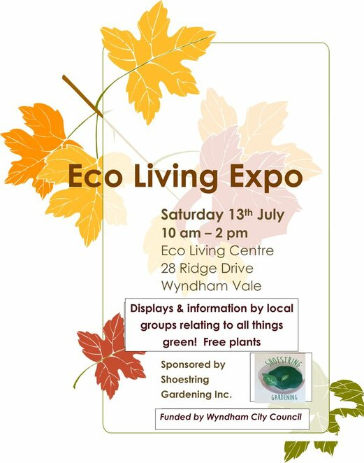 eco living expo 2019, community event, fun things to do, gardening, garden lovers, free plants, free gardening event, shoestring gardening inc, gardening displays, water tank, worm farms, solar pane,s window dressings, wyndham city council