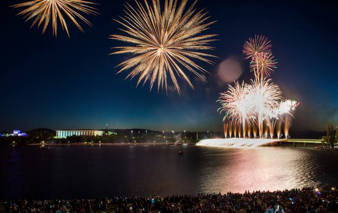 fireworks, canberra, australia day, events ACT, children, family, kids, 2018, what's on, australia day events,