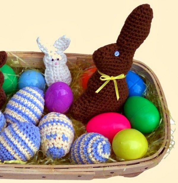 free crochet pattern, chocolate bunny, chocolate free easter, healthy easter
