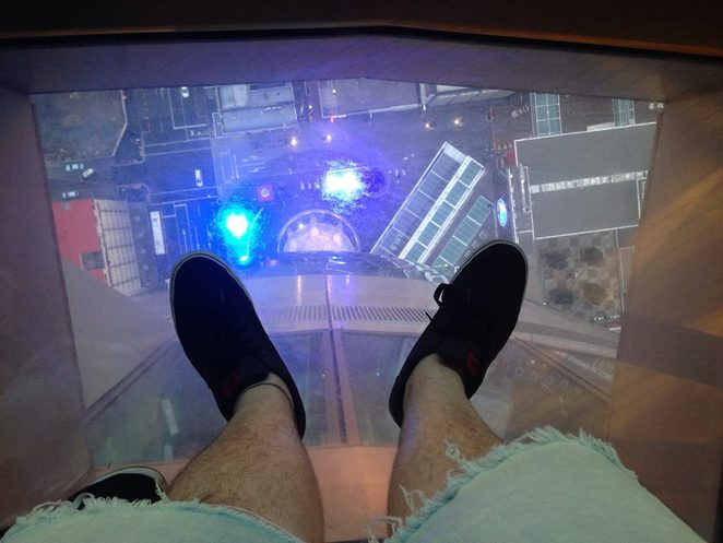 View from the Tower glass floor.