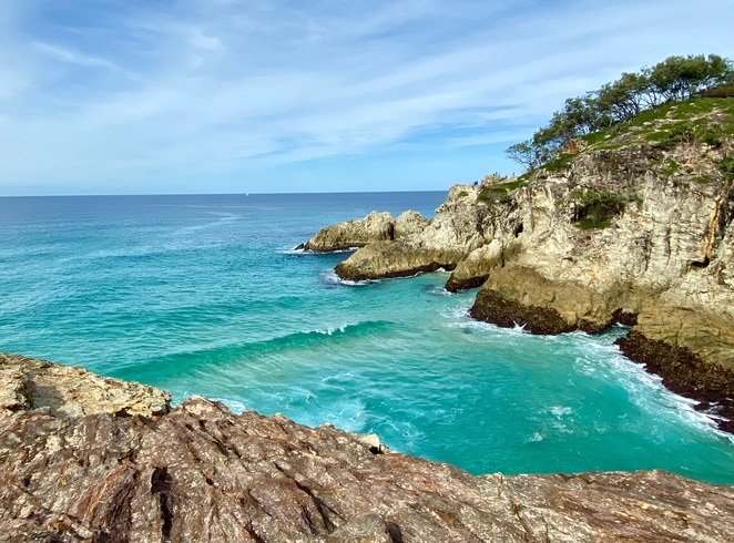 The fun of beautiful North Stradbroke Island can be exhausting for little ones