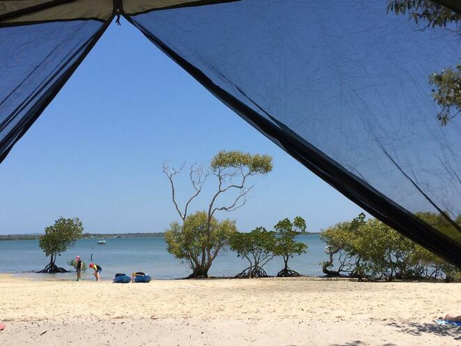 Gorgeous camping right on the beach at Inskip Point