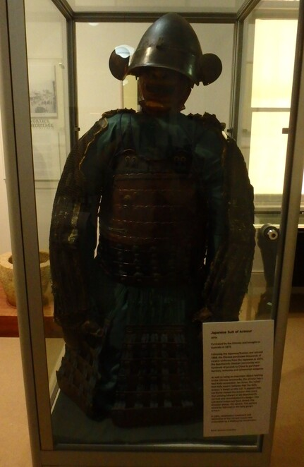 Japanese armour, Ned Kelly armour, Chinese, goldfields