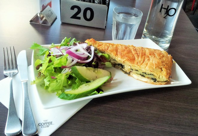 Kate James, The Coffee Club, Cavill Ave, Surfers Paradise, Greek, coffee, cake,