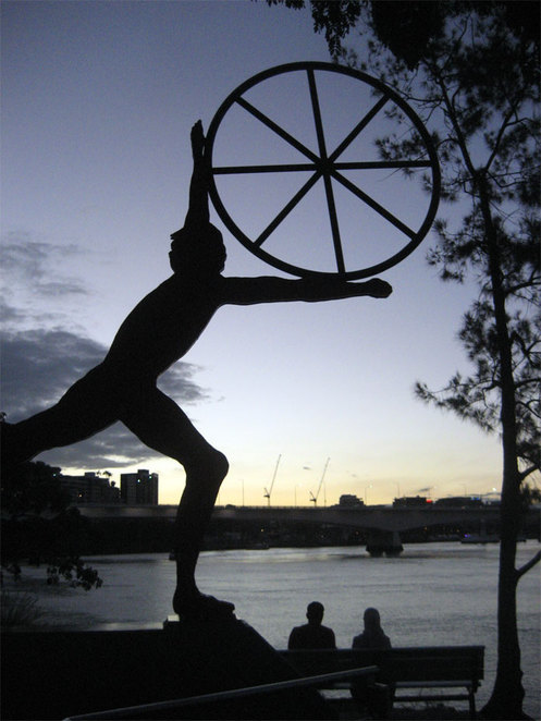 One of the Man & Matter installations at Kangaroo Point