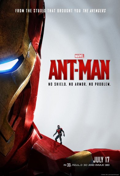 Marvel's Ant-Man poster hinting his future involvement with Iron Man and the Avengers