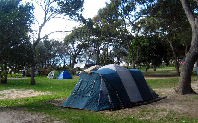 Camping on North Stradbroke Island at Cylinder Beach