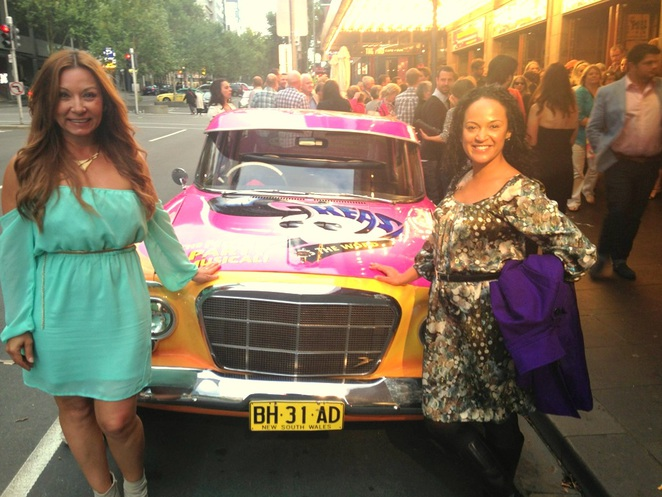 Nuala Hafner and Betty Samis Grease opening Melbourne