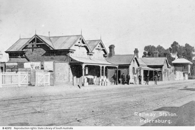 railway station, south australia, mid north, sa country rail, south australian railways, in adelaide, heritage listed, railway history, state library sa, peterborough railway station