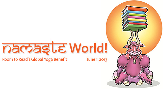 room to read namaste world yoga benefit charity girls educatiom