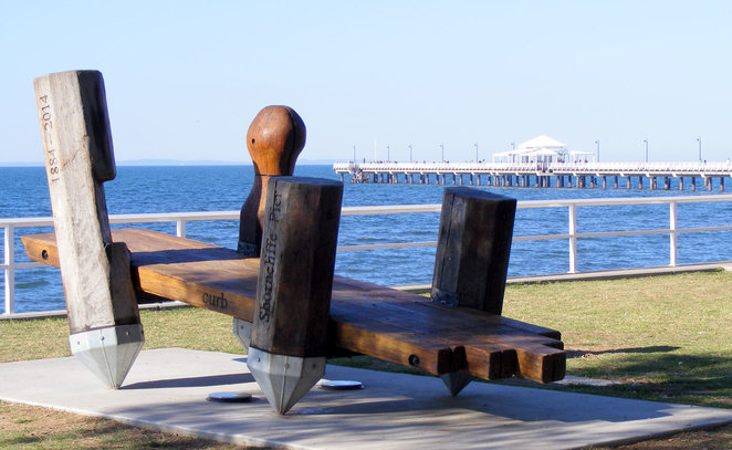 The Shorncliffe Foreshore with the pier in the background