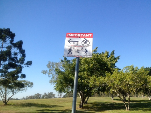 sign Murarrie recreation reserve