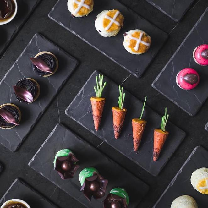 Sisko Chocolate Christina Tantsis Easter event Sisko has joined with Sofitel Pastry Chef, David Hann to bring on the ultimate Highest Easter High Tea experience.
