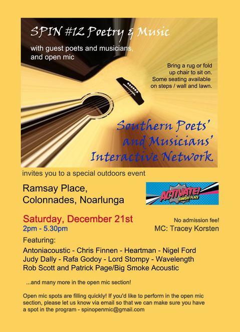 SPIN Poetry & Music Event at Ramsay Place, Colonades, Noarlunga.